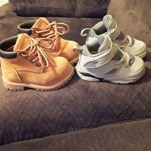 Toddler Jordan's and mountain gear boots